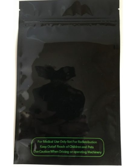 Black Smell and Scan proof ziplock bag