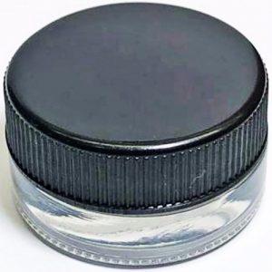 Glass Jar w/airtight plastic cap-2oz