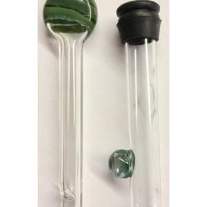 Glass tube in tube with rubber ring
